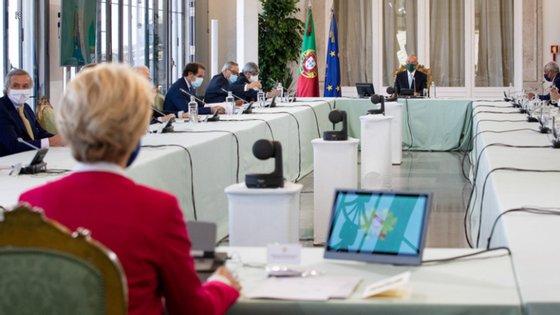 O Conselho de Estado reuniu na passada terça-feira (Fotografia da Presidência da República)