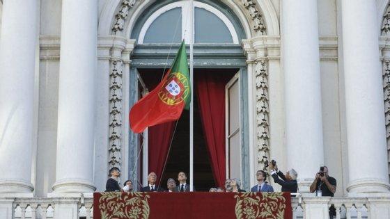 Fotografia da cerimónia do 5 de Outubro em 2019, na qual não houve discursos por ter sido véspera e dia de reflexão antes das eleições legislativas de 6 de outubro