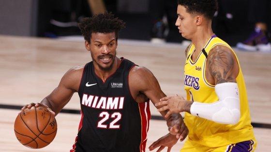 Jogo dos Lakers contra os Heat foi defrontado na AdventHealt Arena, no Complexo da ESPN, em Orlando