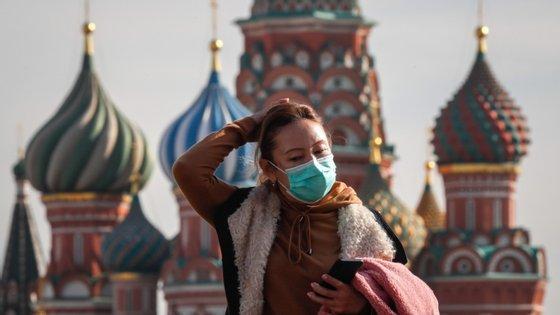 Desde o início da pandemia foram detetados na Rússia 1,3 milhões de casos da Covid-19