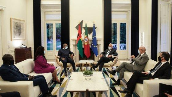 Horas antes, o chefe de Estado da Guiné-Bissau tinha sido recebido pelo Presidente da República, Marcelo Rebelo de Sousa, no Palácio de Belém