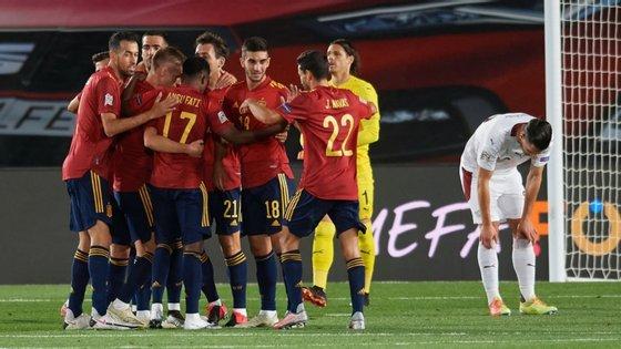 Oyarzabal marcou o único golo do encontro entre Espanha e Suíça na sequência de uma recuperação de bola à entrada da área contrária