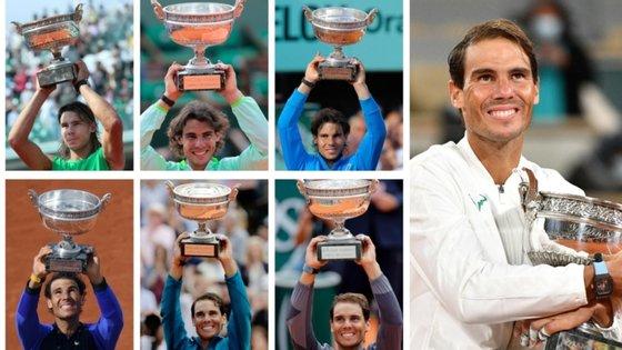 Rafa Nadal conquistou o primeiro Roland Garros dois dias depois de fazer 19 anos; hoje, com 34 anos, alcançou o 13.º título em França
