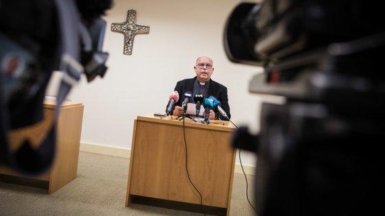 O padre Manuel Barbosa falou aos jornalistas na tarde desta segunda-feira em Fátima