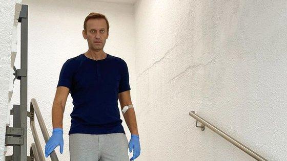 O opositor russo, Alexei Navalny, foi envenenado a 22 de agosto em Omsk, na Sibéria, numa deslocação no âmbito da campanha eleitoral