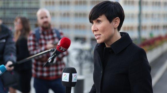 """""""Com base em informações na posse do Governo, estimamos que a Rússia está por trás dessa atividade"""", declarou esta terça-feira a ministra dos Negócios Estrangeiros, Ine Eriksen Søreide"""