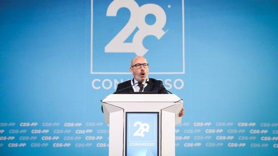 O líder da bancada do CDS-PP, que disse não ter ficado isolado nesta posição na conferência de líderes