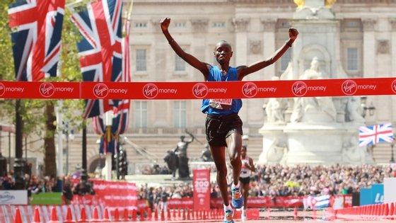 Daniel Wanjiru ficou em oitavo lugar no Campeonato do Mundo em 2017