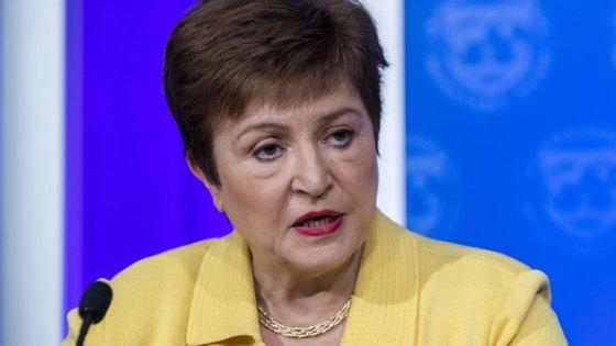 """A diretora-geral do FMI, Kristalina Georgieva, afirma que """"não faz sentido hoje investir na economia de ontem"""""""