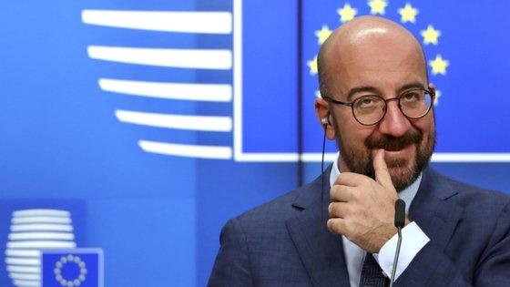 """Charles Michel assegurou que a UE permanece """"disponível para negociar e para continuar as negociações"""""""