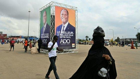A Costa do Marfim está a uma semana das eleições presidenciais