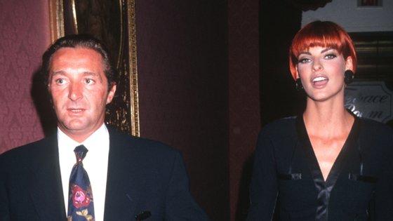 Linda Evangelista e Gérald Marie estiveram casados entre 1987 e 1993