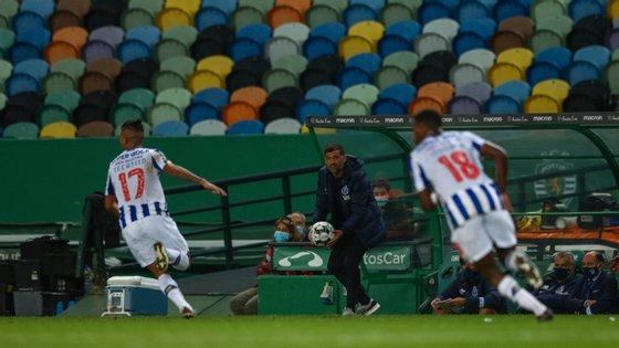Sérgio Conceição assumiu que houve momentos na segunda parte que o desagradaram mas recusou individualizar essas críticas