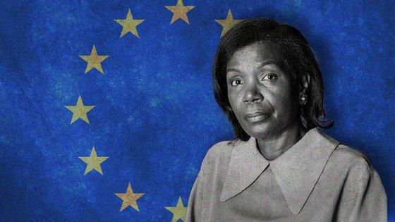 A ministra Francisca Van Dunem foi ouvida no Parlamento Europeu numa sessão conjunta das comissões de Controlo Orçamental e de Liberdades e Garantias