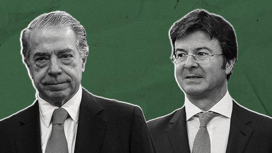 Rui Guerra (a direita) substituiu Álvaro Sobrinho em 2013 como líder executivo do Banco Espírito Santo Angola por indicação de Ricardo Salgado (à esquerda)