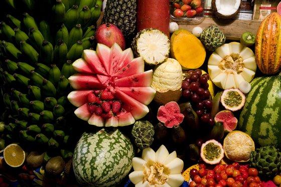 Cocktail de frutas en la playa. Isla de Morro de Sao Paulo Bahía  Brasil 2007