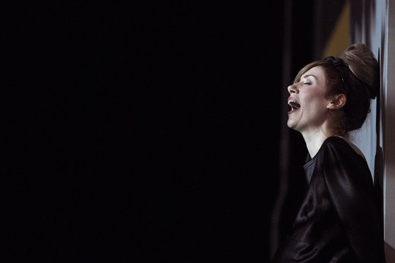 French singer Patricia Petibon performs