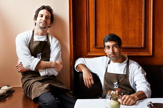 O chef José Avillez com o seu assistente David Jesus. foto- paulo barata 2013