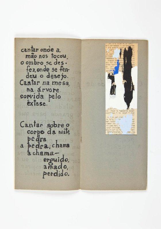 Livro de autor de Lourdes Castro a partir de poema de Herberto Helder, 1958