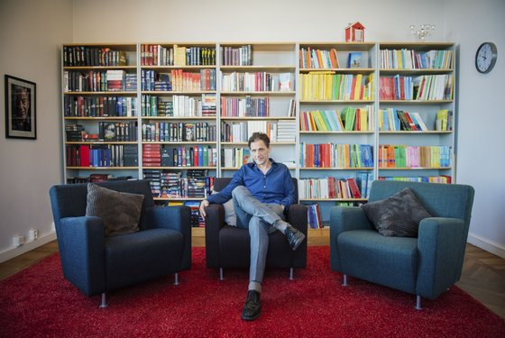 """TO GO WITH AFP STORY BY CAMILLE BAS-WOHLERT Swedish journalist and best-selling author, David Lagercrantz is pictured on June 12, 2015 at Swedish publishing company Norstedts in Stockholm. Speaking to reporters, David Lagercrantz said he was """"terrified"""" as he wrote """"The Girl in the Spider's Web"""" which goes on sale in 25 countries on August 27, 2015 and in the United States on September 1, 2015. AFP PHOTO / JONATHAN NACKSTRAND (Photo credit should read JONATHAN NACKSTRAND/AFP/Getty Images)"""
