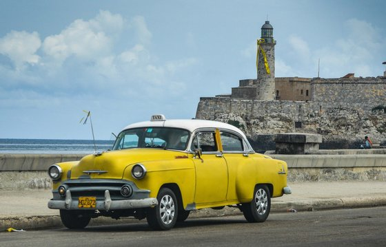 """A yellow ribbon is seen in El Morro of Havana as part of a campaign for the freedom of the Cuban 5, on September 12, 2013. Cuba has waged a long campaign to win the release of the so-called """"Cuban Five,"""" who were arrested in 1998 on charges of spying on US military installations in south Florida. AFP PHOTO/ADALBERTO ROQUE (Photo credit should read ADALBERTO ROQUE/AFP/Getty Images)"""