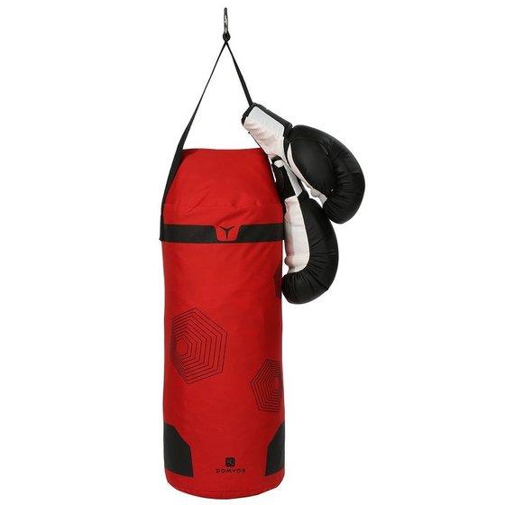 conjunto luvas saco boxe