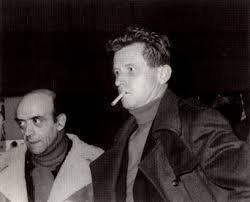 António Reis e Jean-Marie Straub, no Festival de Londres, na década de 80.