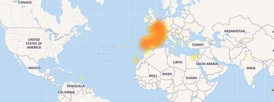 facebook down países
