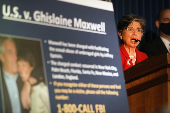 Charges Announced Against Epstein Confidante Ghislaine Maxwell By Acting NY Southern District US Audrey Strauss