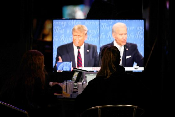 People watch Trump-Biden debate