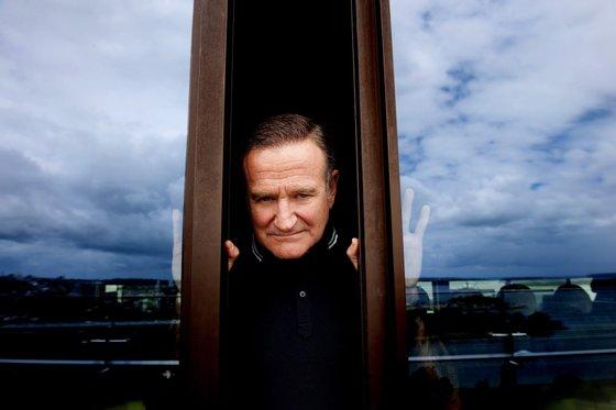 Actor Robin Williams promove o filme de animação Happy Feet 2 em Sydney, Austrália. TRACEY NEARMY/LUSA