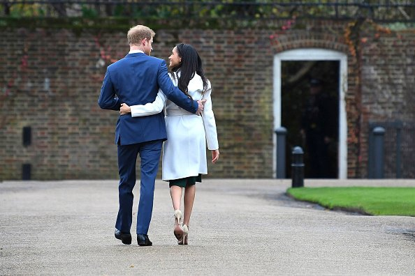 Prince Harry and actress Meghan Markle during an official photocall to announce their engagement