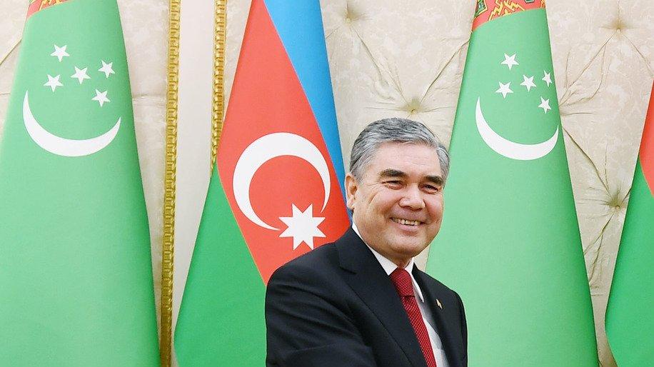 President of Turkmenistan Berdimuhamedow in Azerbaijan