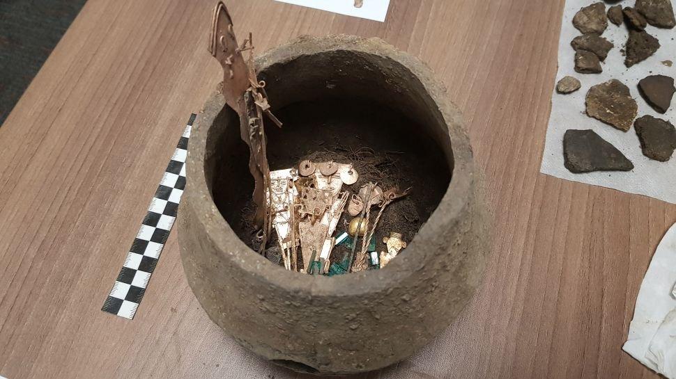 Vaso encontrado na Colômbia